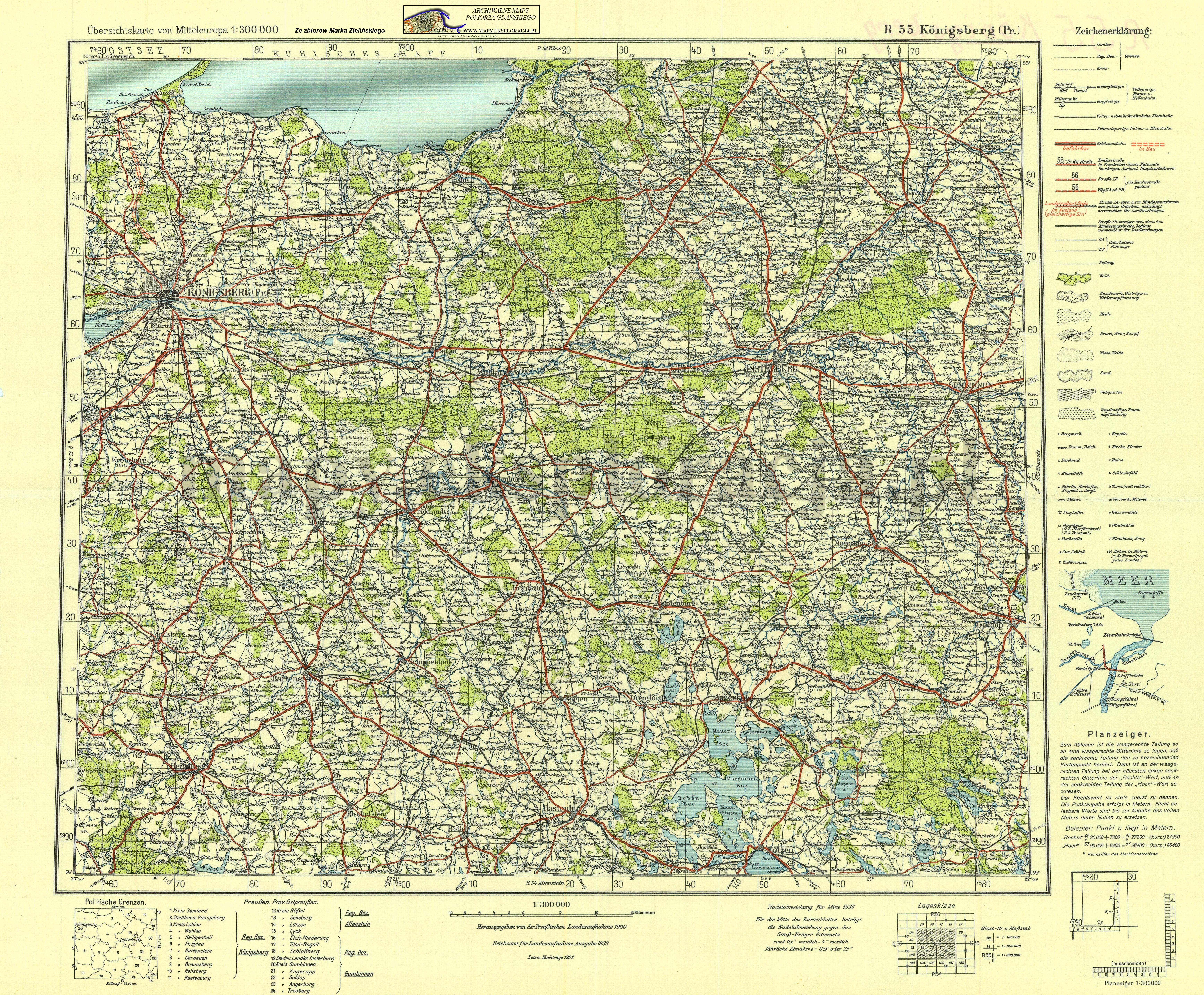 Archiwalne Mapy Pomorza Gdańskiego